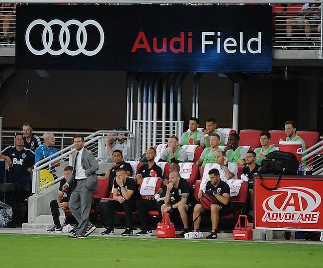 Washington, D.C. - Julio 14, 2018: Foto de Equipo del D.C. United. D.C. United derroto al Vancouver Whitecaps FC 3-1 en el estreno en su nuevo estadio Audi Field