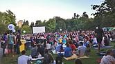 Función de cine al aire libre