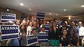 Ayanna Pressley en campaña electoral por el Distrito 7 de MA en la Cámara de Representantes de EE.UU.