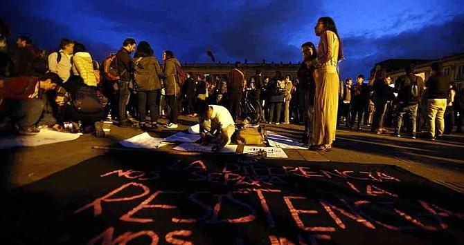 COLOMBIA. Hace una semanas se realizó una velatón para exigir la protección de los líderes sociales. Los crímenes continúan