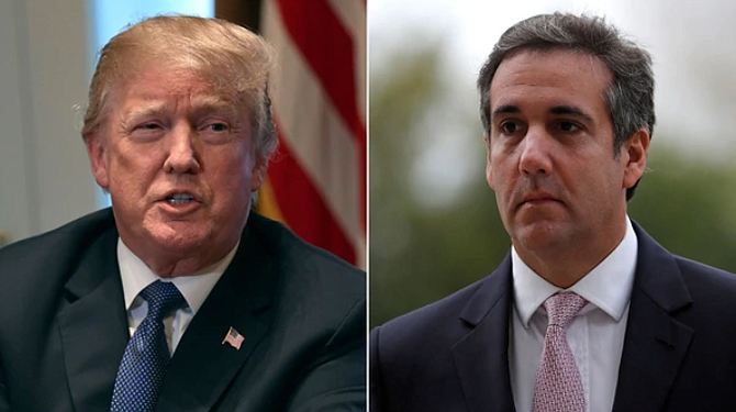 EEUU. El presidente Donald Trump y su abogado, Michael Cohen