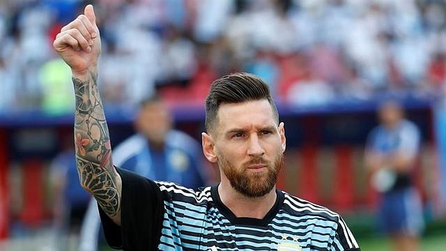 FÚTBOL. Lionel Messi a su llegada a un partido ante Francia durante el Mundial de Rusia 2018