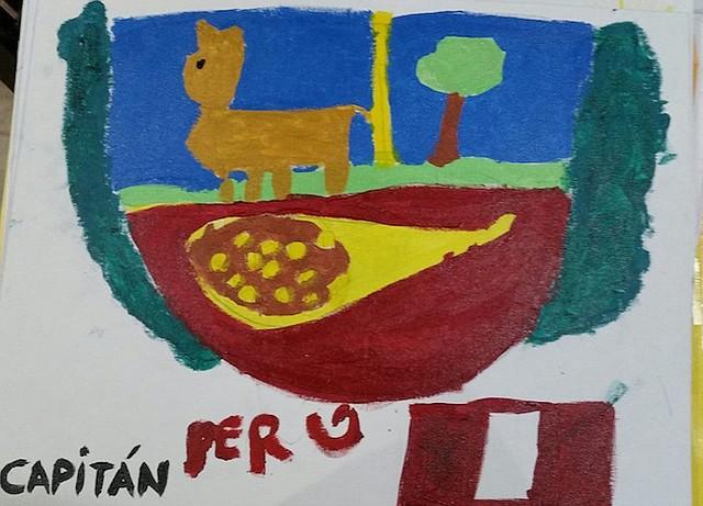 El dibujo de un niño de 5 años, Kevin Kennedy Martínez.