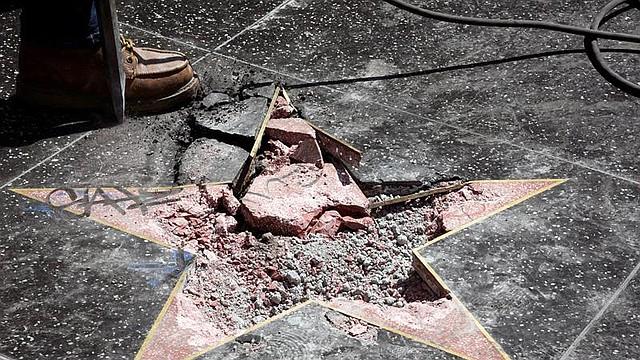EEUU. Estrella en el Paseo de la Fama de Hollywood, del presidente Donald Trump