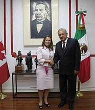 MÉXICO. La canciller canadiense Chrystia Freeland se reúne en privado con Andrés Manuel López Obrador