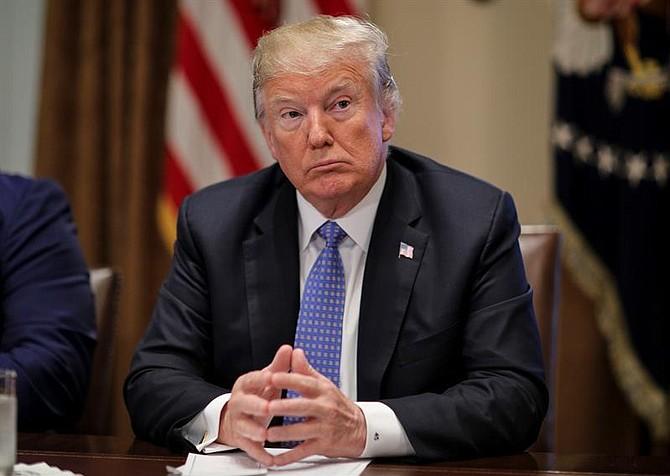 WASHINGTON. El presidente de Estados Unidos, Donald Trump, durante una reunión el miércoles 1 de agosto de 2018
