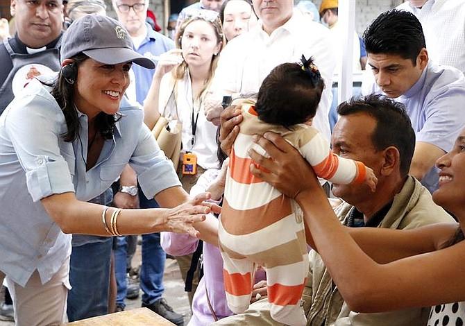 Embajadora Nikki Haley constató realidad de los venezolanos en Cúcuta