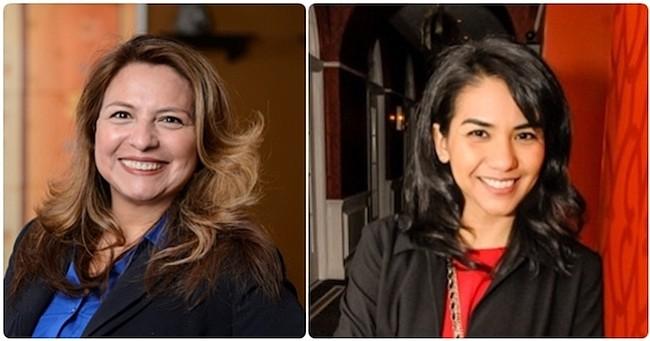 """DEMÓCRATAS. Guzmán (izq.) y Alcalá (der.): """"Tenemos que mantener la presión para aprovechar nuestro progreso y ampliar las oportunidades en toda Virginia"""""""