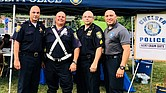 Miembros del Departamento de Policía de Chelsea: (De Izq. a Der.) El capitán David Batchelor, oficial Richard Bellomo, sargento John Nofle y el oficial Sammy Mojica.