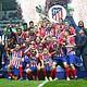 FÚTBOL. El Atlético de Madrid no dio tregua al rival