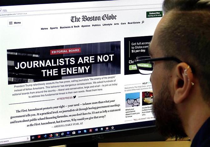 Hombre admite amenazas de muerte contra empleados del Boston Globe