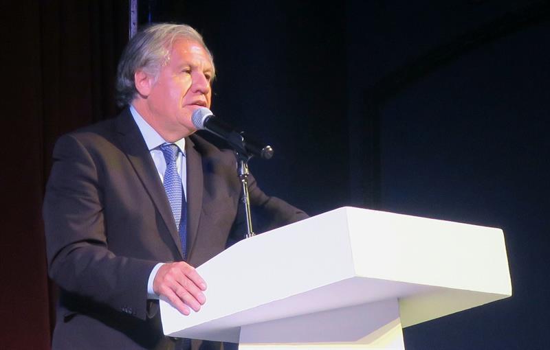 BUENOS AIRES. El secretario general de la OEA, Luis Almagro, durante la clausura de la undécima edición de la Cumbre Internacional de Jóvenes Líderes, el 9 de agosto de 2018