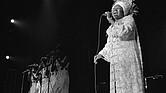 Aretha Franklin durante una actuación en el Caesars Palace, en Las Vegas, EE.UU.