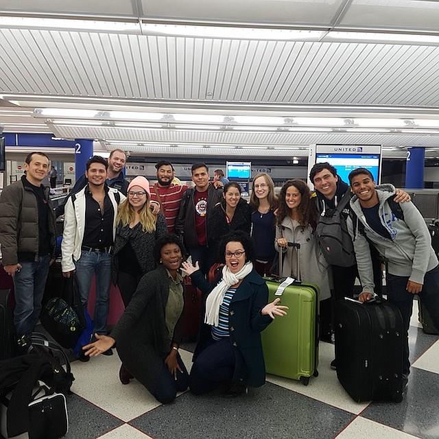 EMPRENDEDORES. Un grupo de jóvenes emprendedores latinoamericanos durante su visita a la ciudad de Chicago.