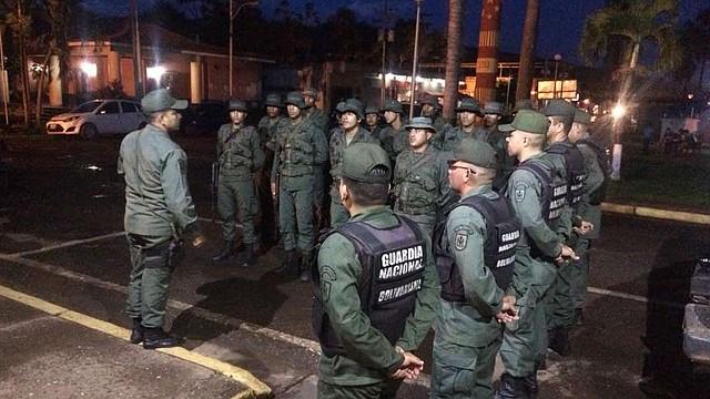 DEFENSA. Foto referencial de funcionarios de la Guardia Nacional Bolivariana de Venezuela (GNB)