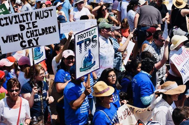 Foto de referencia que muestra una manifestación a favor de los beneficiarios de TPS