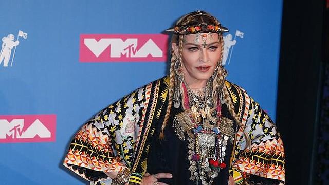 SHOW. La cantante estadounidense Madonna posa en la sala de prensa de los Premios MTV Video Music Awards 2018, el lunes 20 de agosto de 2018, en el Radio City Music Hall, en Nueva York