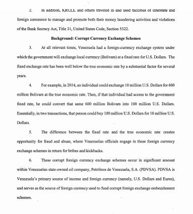 EE.UU. Documento probatorio