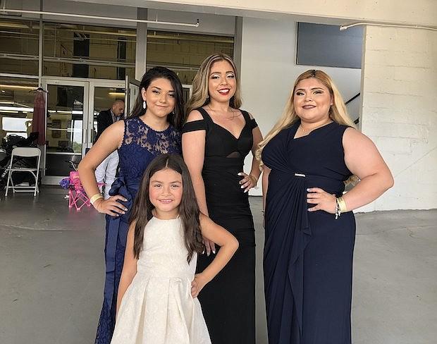 De izq. a der. Jennifer Iraheta, Vanessa Melgar, Keiri Martínez y Miss Chiquitita Sofía Cano