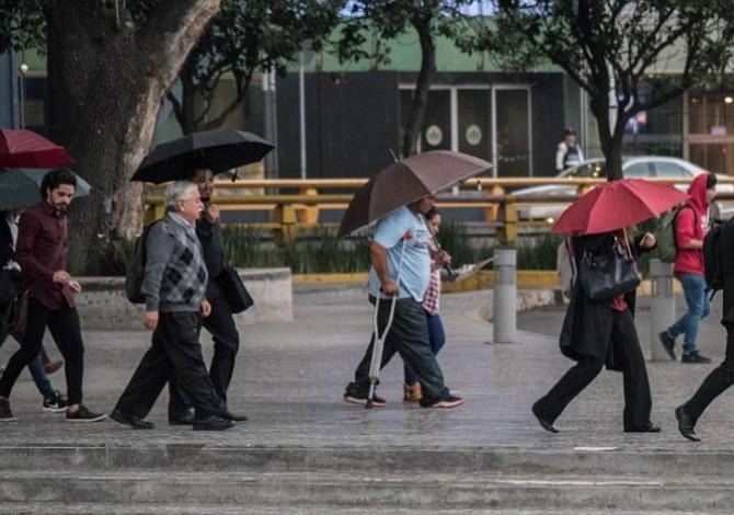 Precipitaciones disparan la alerta amarilla en siete delegaciones mexicanas
