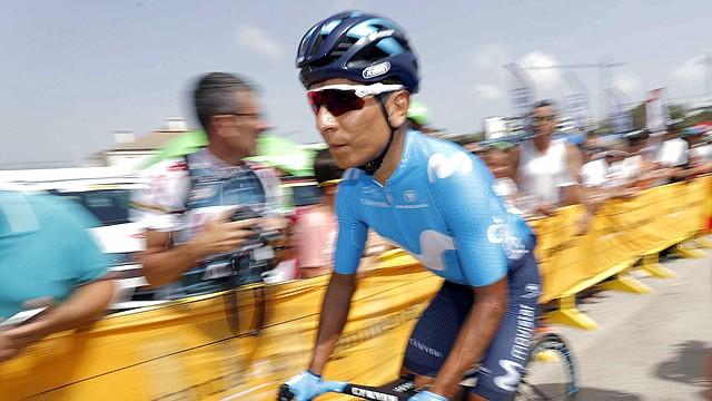 MÁLAGA. Nairo Quintana, corredor colombiano del equipo Movistar, durante la tercera etapa de La Vuelta, disputada el 27 de agosto de 2018 entre Mijas y Alhaurín de la Torre, con un recorrido de 178,2 kilómetros
