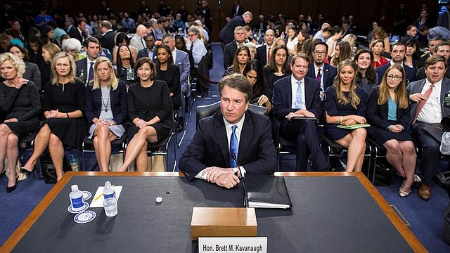 EE.UU. El conservador Brett Kavanaugh afronta su segundo día de audiencias en el Comité Judicial del Senado para ser confirmado como magistrado del alto tribunal, en el Hart Senate Office Building en Washington