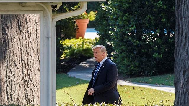 WASHINGTON. El presidente de los Estados Unidos, Donald Trump, en el jardín sur de la Casa Blanca, el jueves 6 de septiembre de 2018