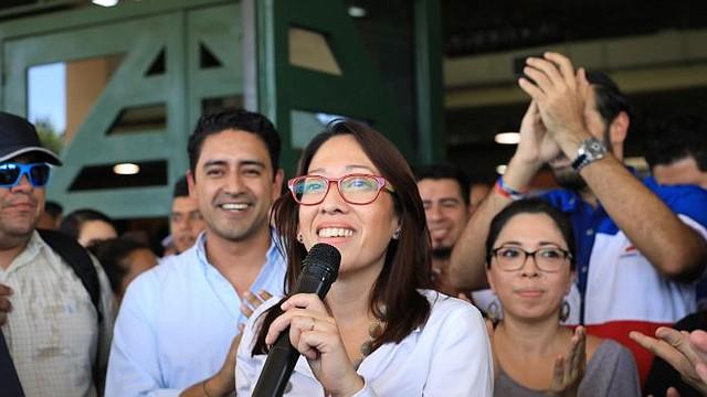 POLÍTICA. Carmen Aída Lazo, candidata a la vicepresidencia de la República de El Salvador por la coalición ARENA, PCN y PDC