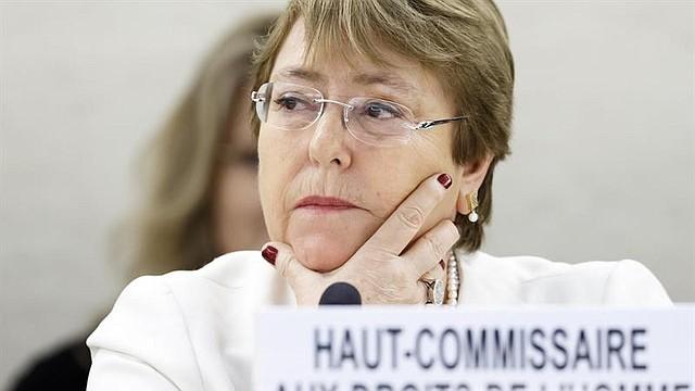SUIZA. La nueva alta comisionada de Naciones para los Derechos Humanos, Michelle Bachelet, asiste a la inauguración de la trigésimo novena sesión ordinaria del Consejo de Derechos Humanos de la ONU, en Ginebra, el 10 de septiembre de 2018
