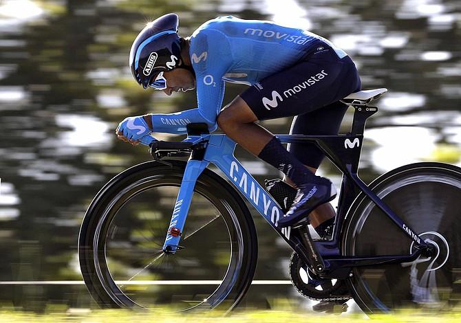 Nairo Quintana perdió más tiempo con el líder en la contrarreloj de la Vuelta a España