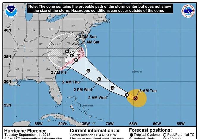 """Florence amenaza con crear """"letales"""" marejadas ciclónicas"""