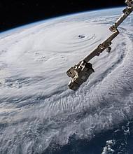 CLIMA. El huracán Florence visto desde una cámara en la Estación Espacial Internacional