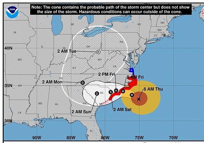 Comienzan las lluvias en la costa de Carolina del Norte: se aproxima Florence