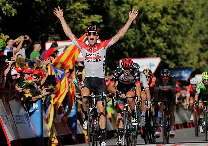 Heroica la victoria de Jelle Walleys en la Vuelta a España