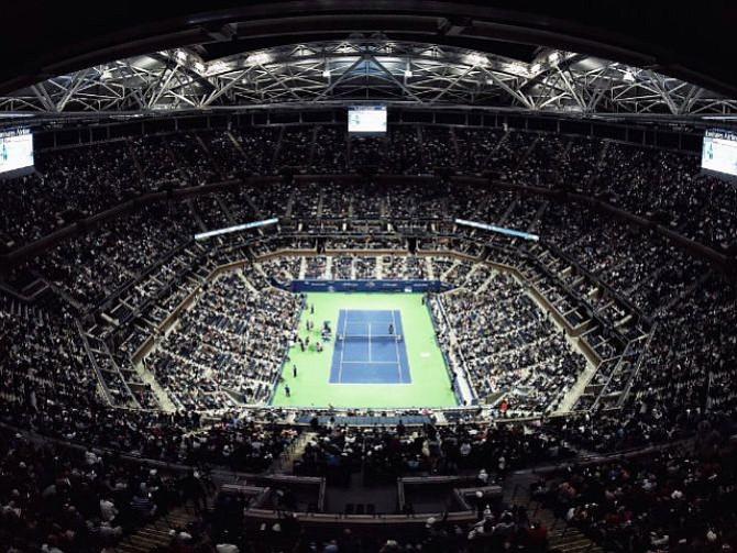 ESCENARIO. La arena Arthur Ashe, sede de los principales encuentros del torneo