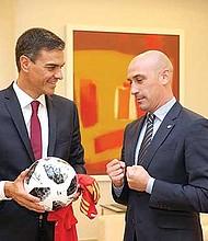 Pedro Sánchez y Luis Rubiales.