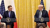 Andrzej Duda y Donald Trump.
