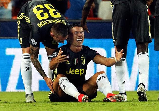 Las lágrimas de Ronaldo en su debut europeo con Juventus