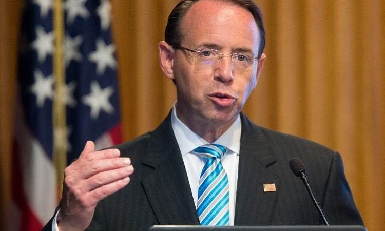 Rod Rosenstein podría dejar Departamento de Justicia por inconformidades de Trump