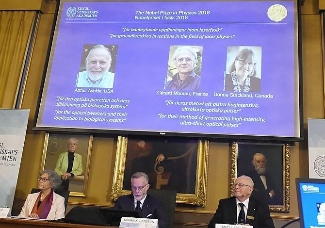 Tres científicos ganan el Nobel de Física por innovación en uso del láser