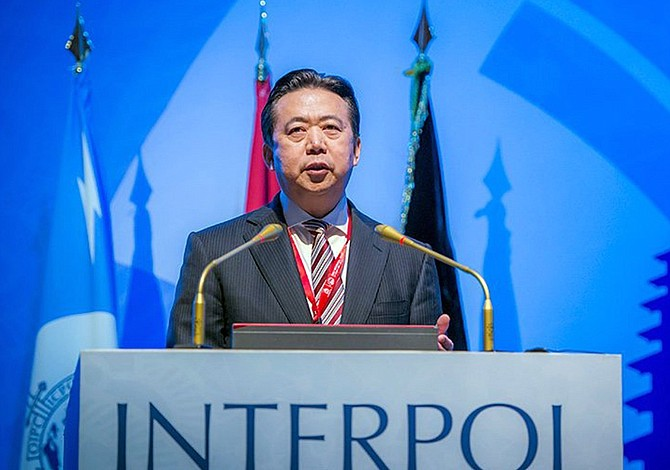 Renunció el presidente de la Interpol detenido en China