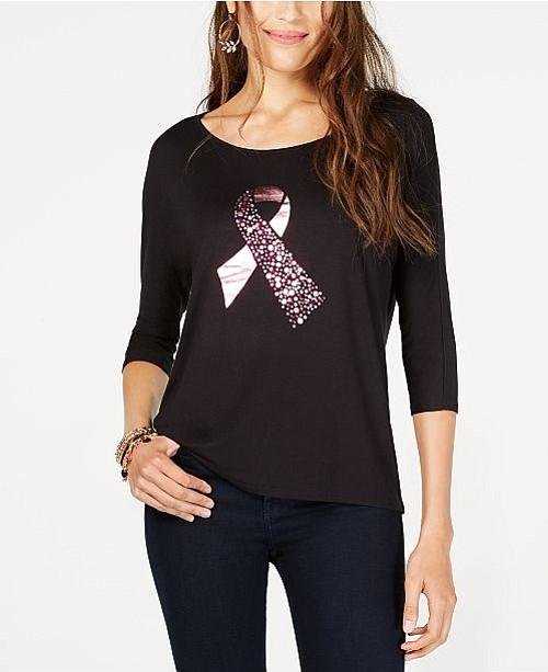Ribbon Graphic-Print T-Shirt de Thalia Sodi. Precio con descuento: $29.62