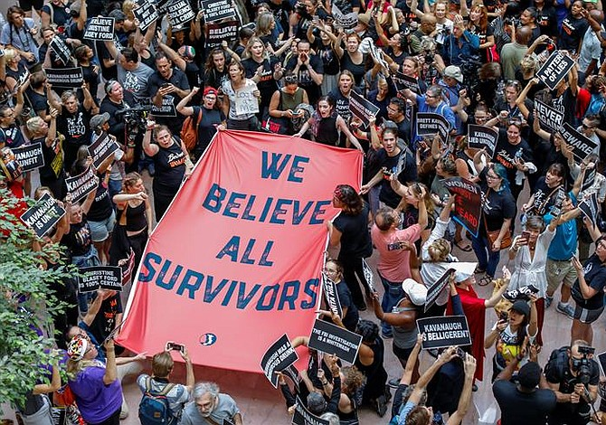 Protestas en el Senado ante la votación sobre Kavanaugh