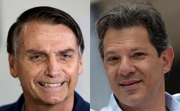 Bolsonaro y Haddad irán a la segunda vuelta de las elecciones presidenciales de Brasil