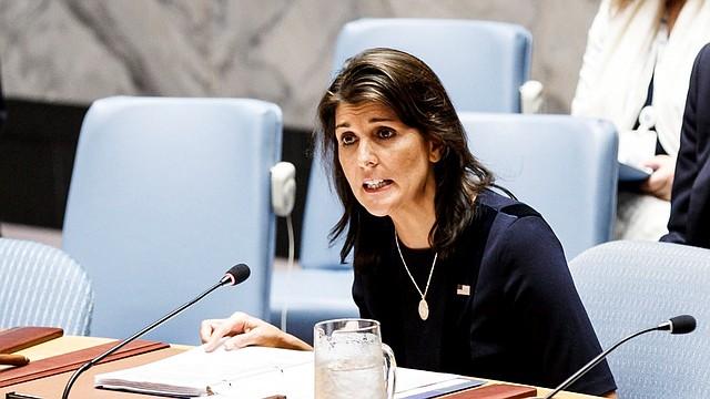 DIPLOMACIA. Imagen de archivo de la embajadora de Estados Unidos ante Naciones Unidas, Nikki Haley, en la sede de la ONU en Nueva York, el 17 de septiembre del 2018