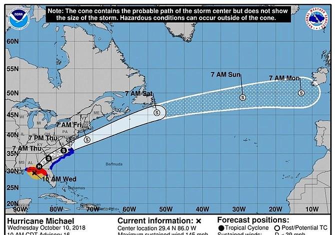 Huracán Michael llega a tierra en Florida Panhandle