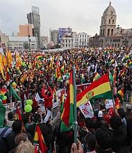 LA PAZ. Miles de personas marcharon en contra del presidente de Bolivia, Evo Morales, el miércoles 10 de octubre de 2018