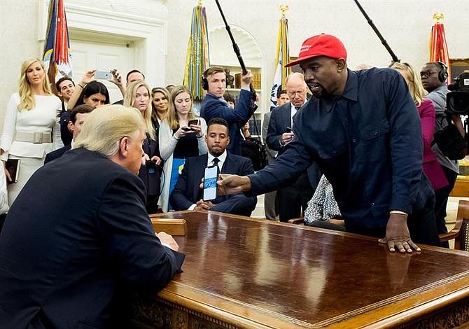 Kanye West almorzó con Trump en la Casa Blanca