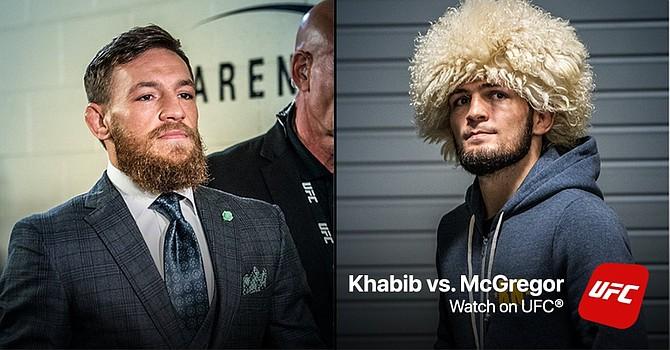 Los peleadores de al UFC, Conor McGregor y Khabib Nurmagomedov.