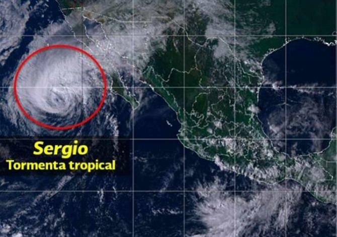 México en alerta por la llegada de la tormenta tropical Sergio